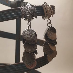 Vintage Coin Dangle Earrings